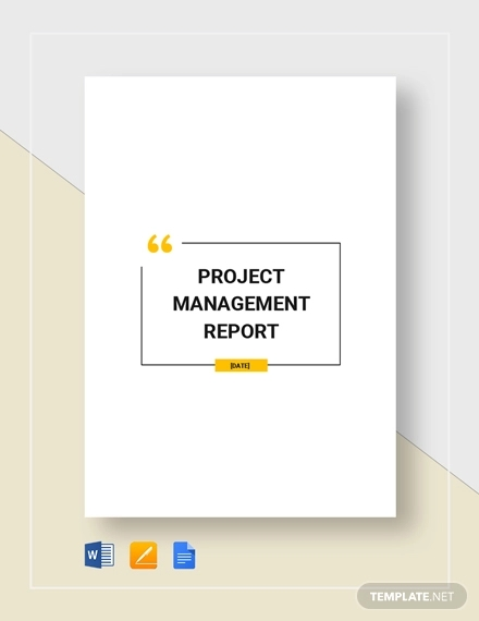 project management report template2