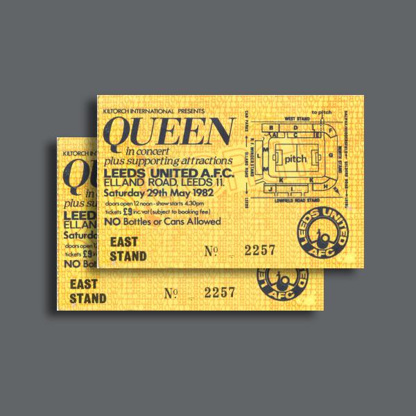 queen concert admission ticket