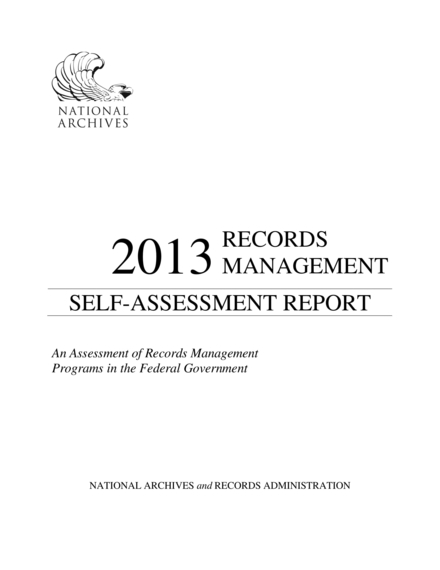 records management self assessment report example