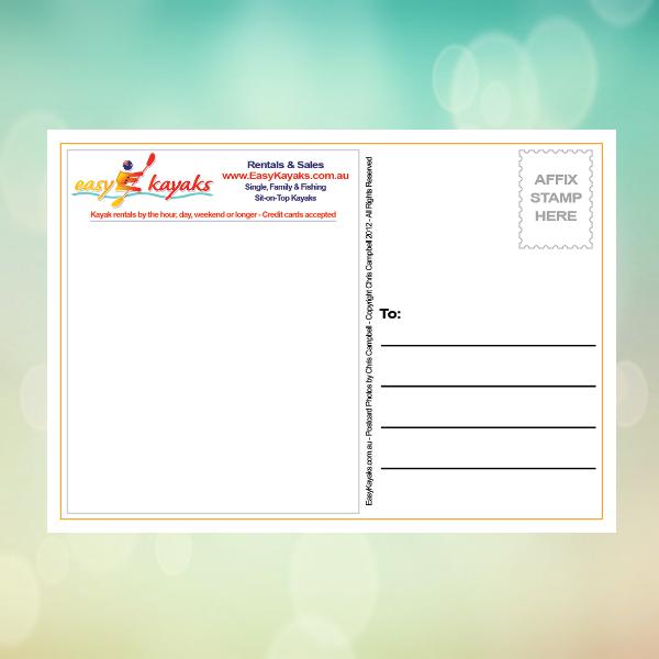 Rental Business Postcard