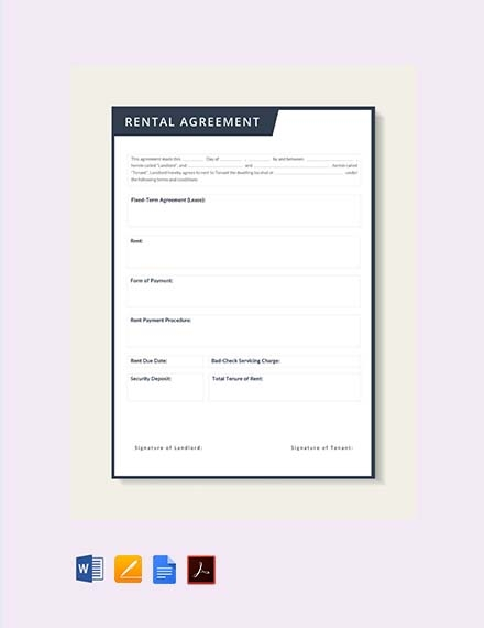 rental lease agreement contract
