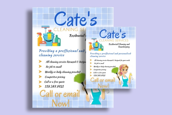 residential cleaning services flyer