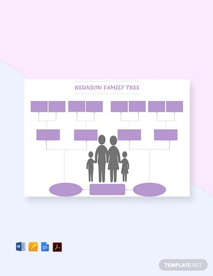 reunion family tree template