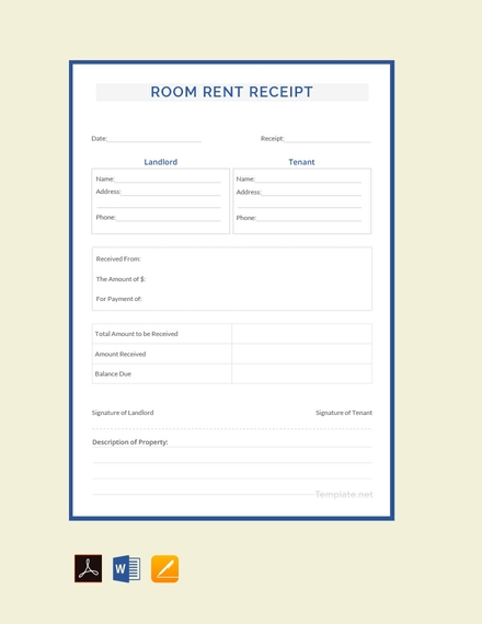room rent receipt