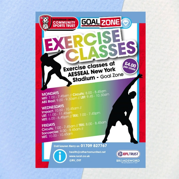 rotherham united healthy exercise classes flyer
