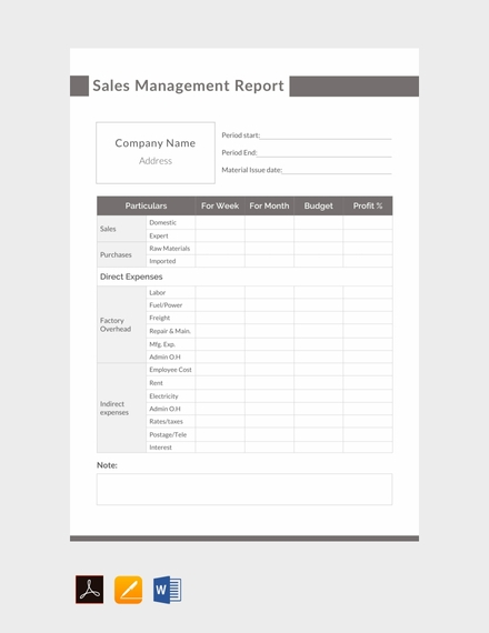sales management report template1