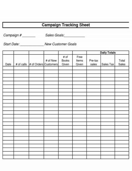 sales report tracking sheet