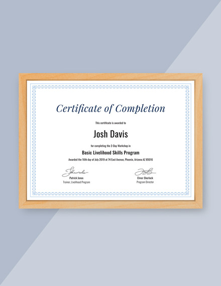 sample completion certificate template1