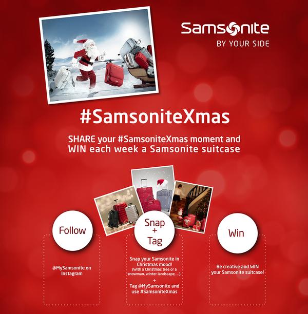 samsonite christmas contest flyer
