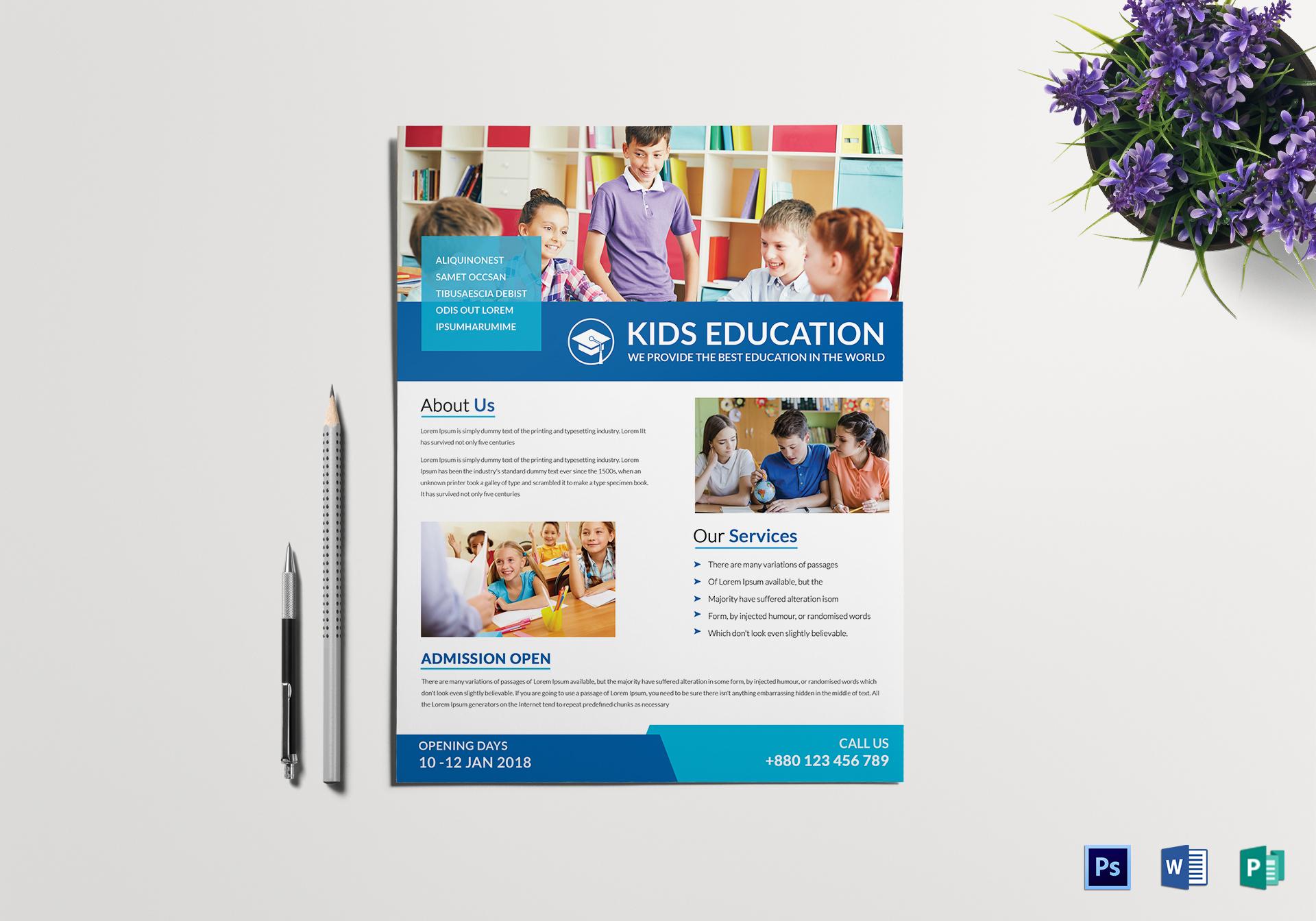 school tutoring flyer