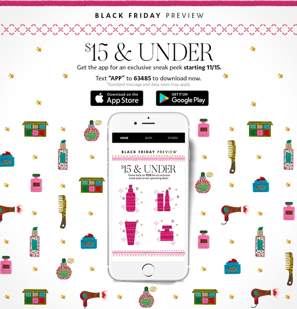 sephora black friday e mail newsletter