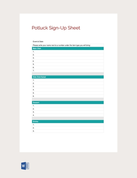 14 sign up sheet examples templates in word pages docs