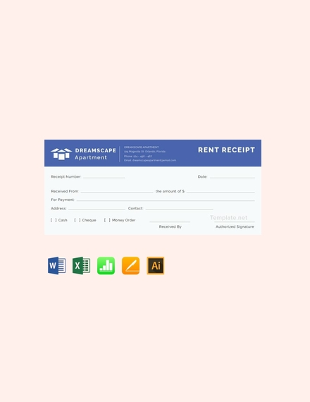simple apartment rent receipt