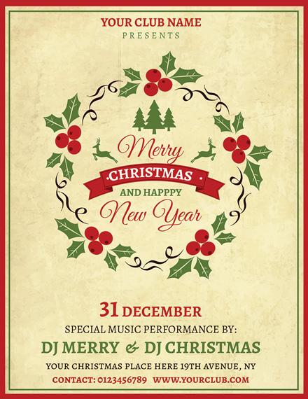 simple christmas flyer