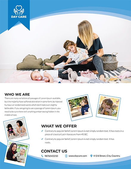 simple day care flyer
