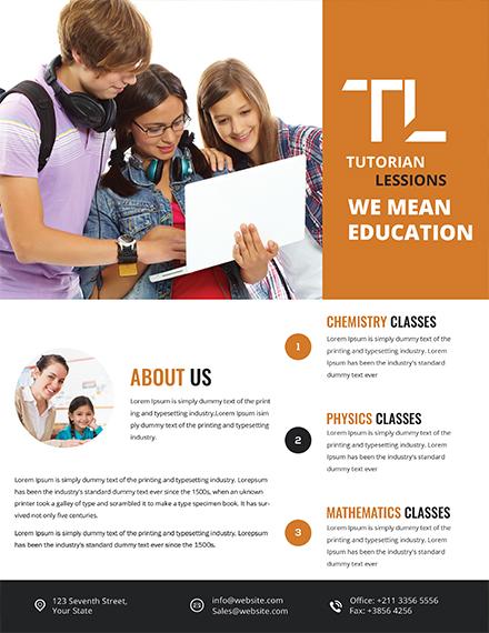 simple education tutoring flyer
