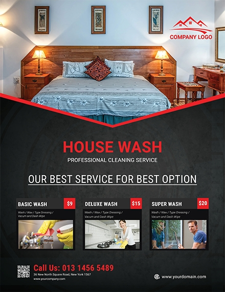 simple house cleaning service flyer