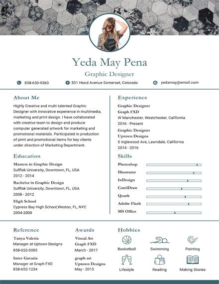 simple modern resume