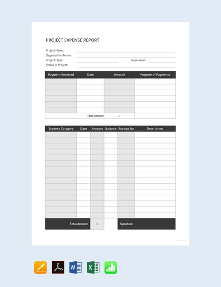 simple project expense report template1