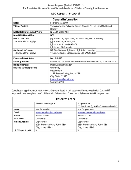 simple research proposal example
