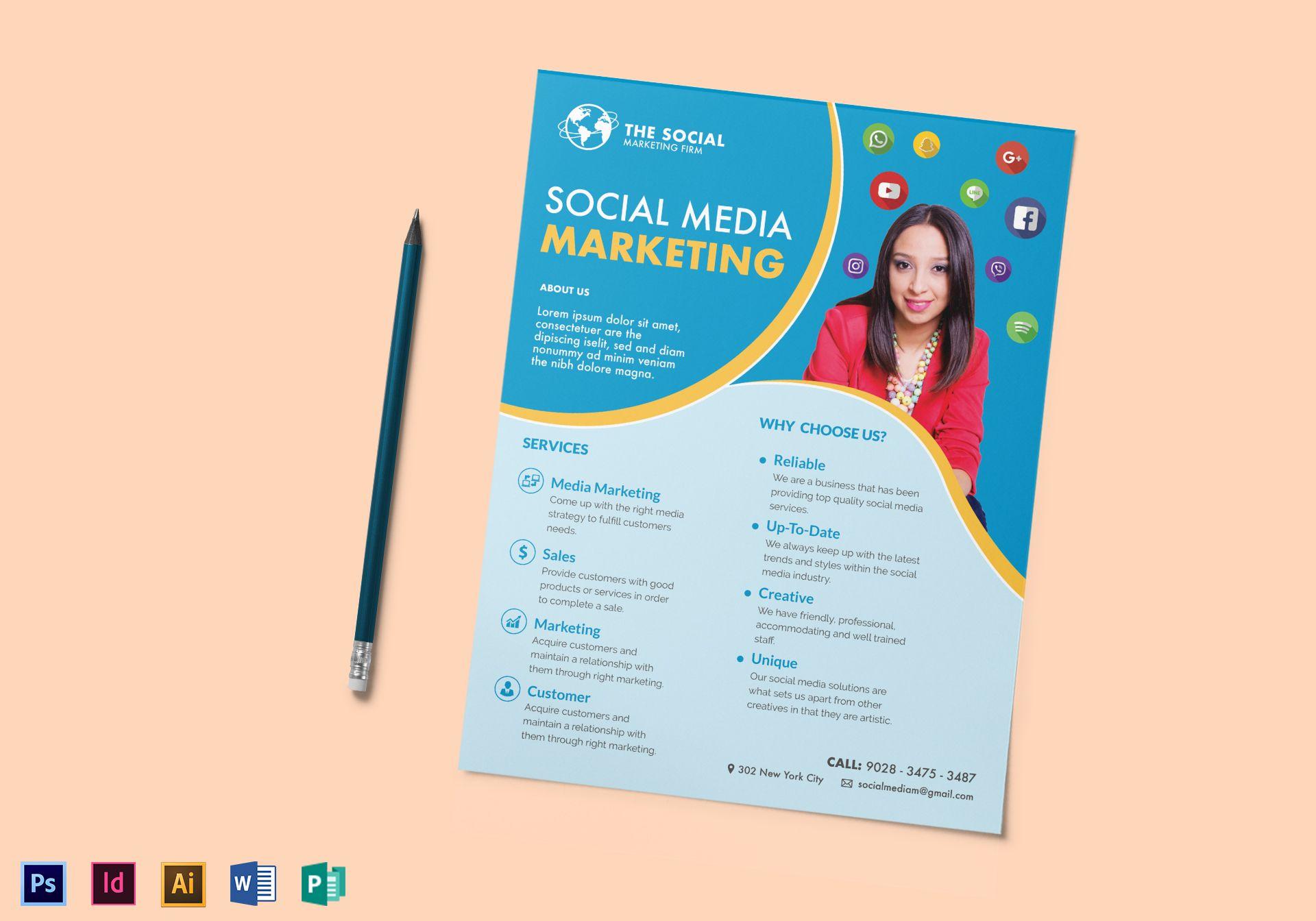 social media digital marketing flyer