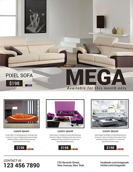 sofa mega sale template