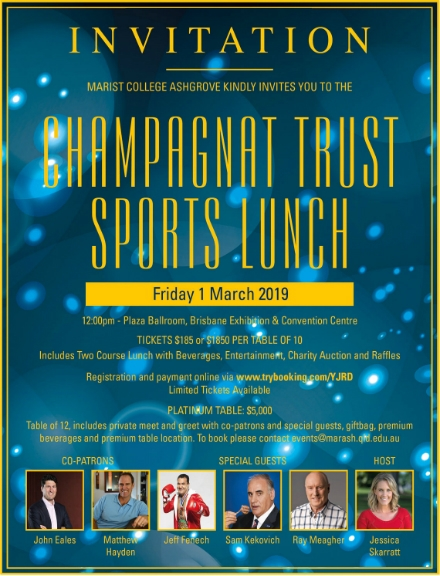 sports lunch invitation