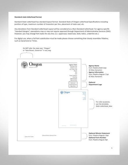 standard state letterhead