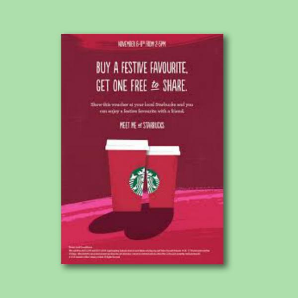 starbucks digital marketing flyer