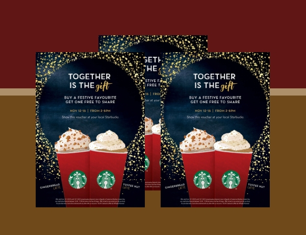 starbucks sales flyer