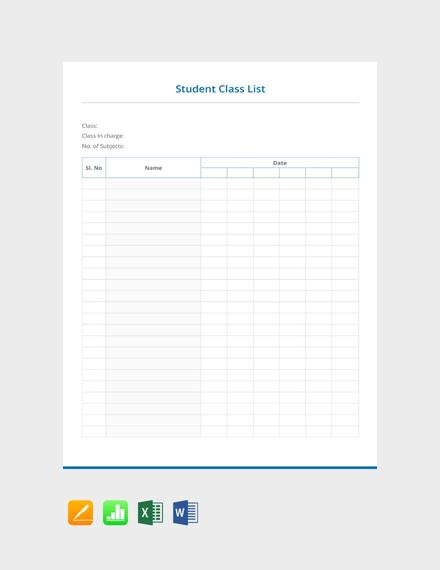 Student Class List