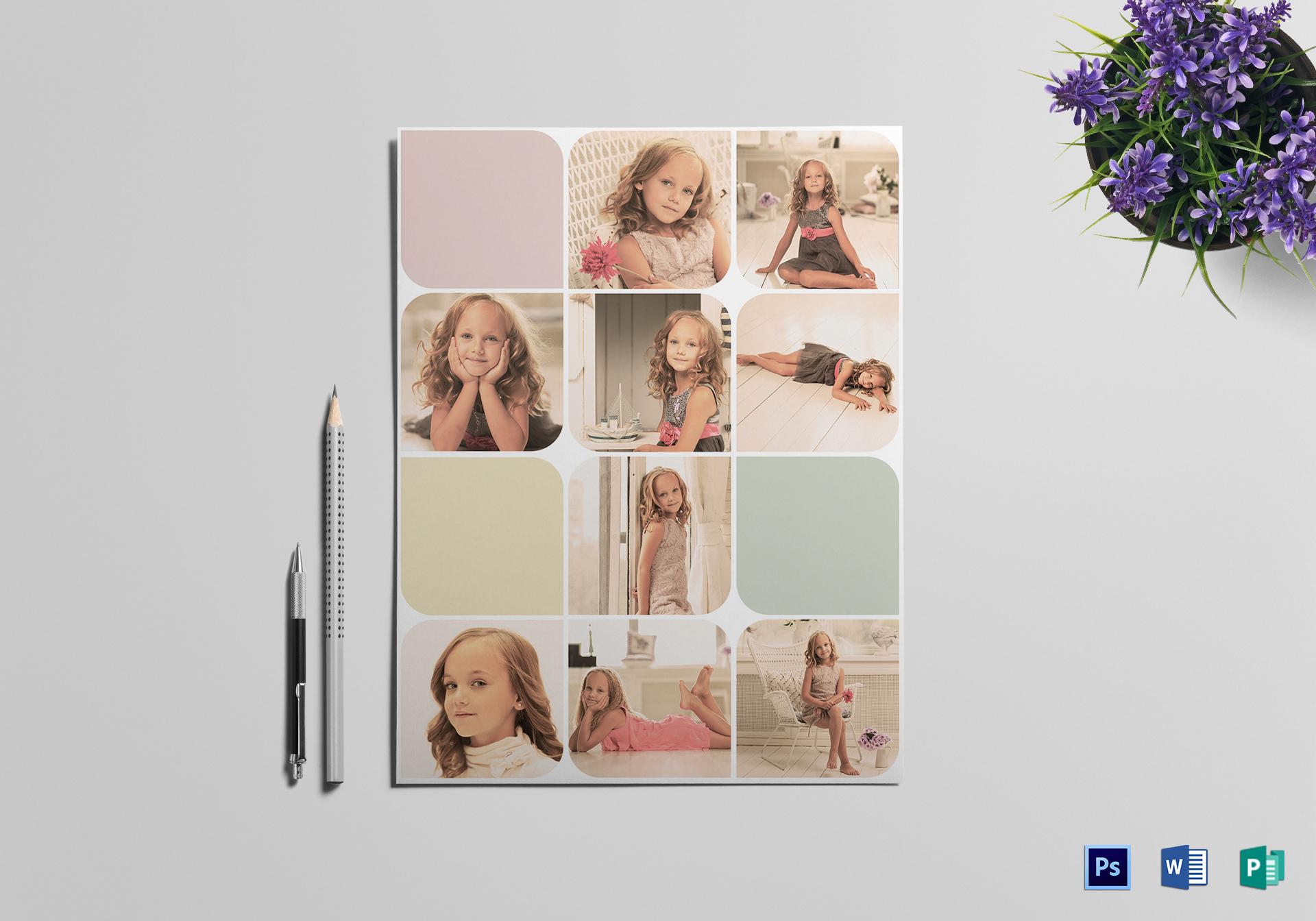 stylish photography flyer
