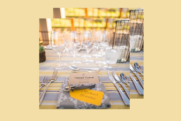 summer cabernet dinner place card