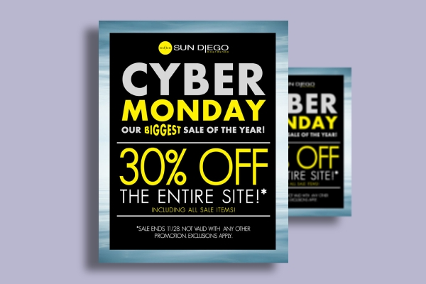 sun diego cyber monday discount