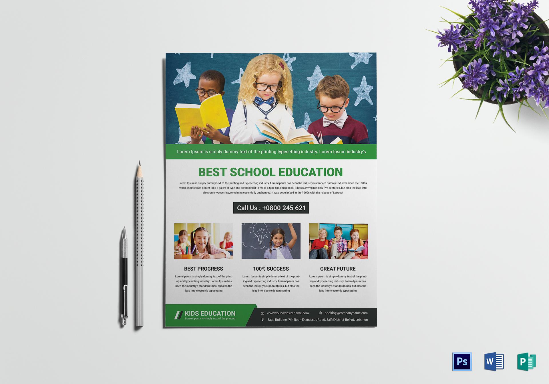 talent education flyer