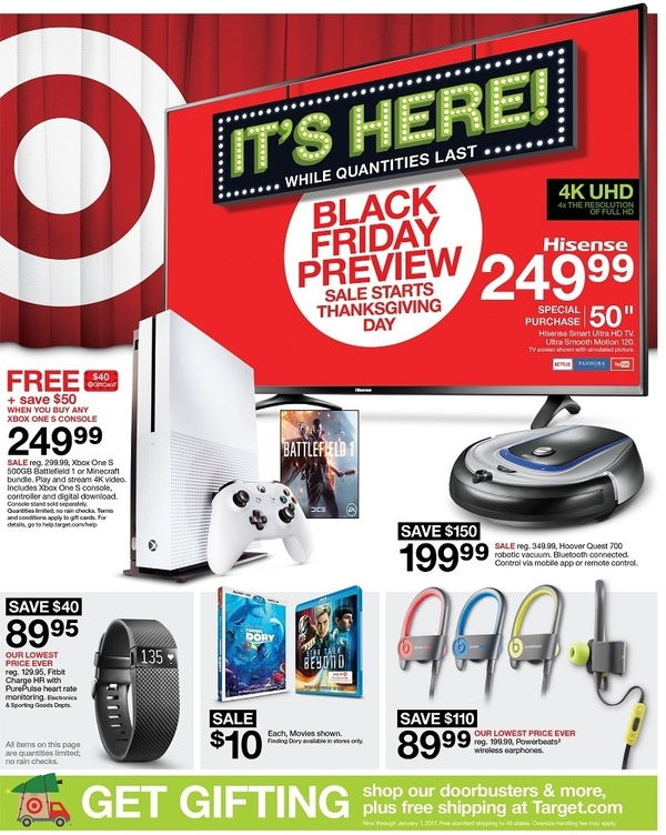 target black friday preview flyer