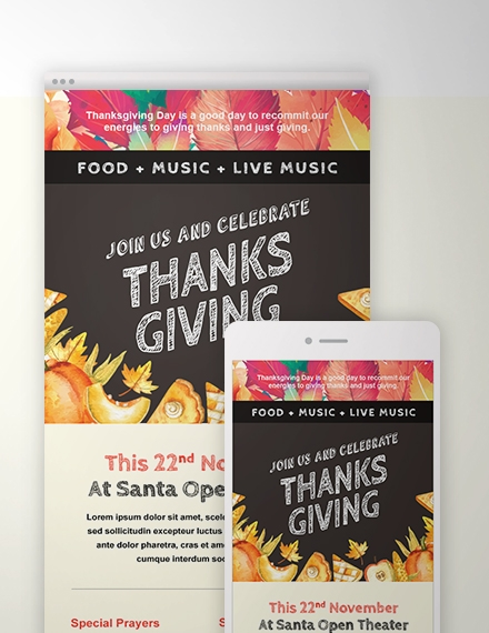 thanksgiving email newsletter