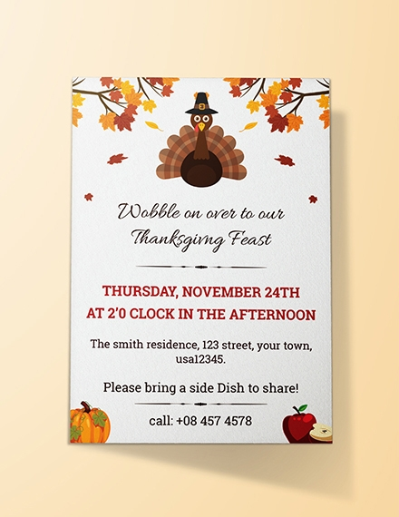 thanksgiving invitation template