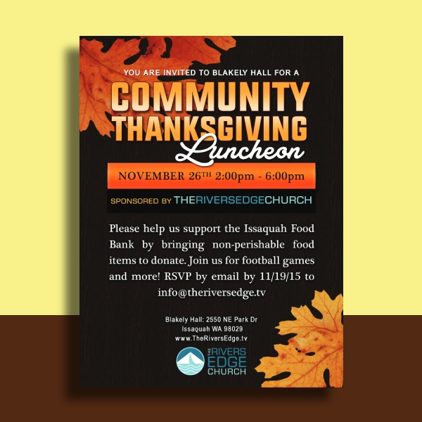 thanksgiving luncheon poster