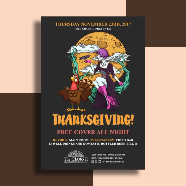 thanksgiving music event flyer