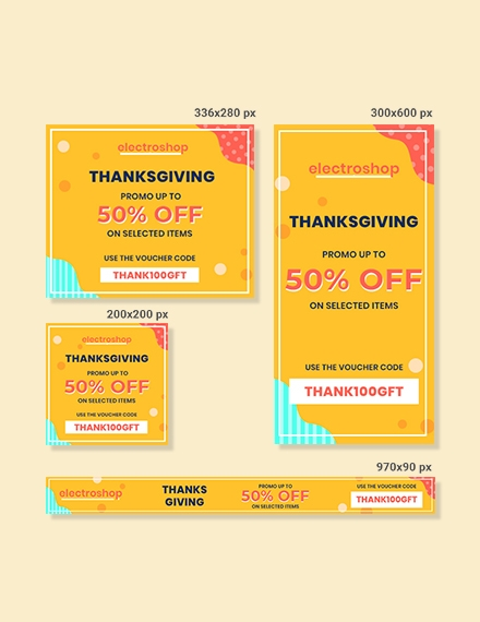 thanksgiving web ad banner