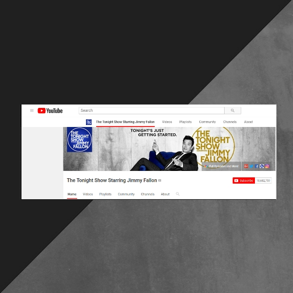 The Tonight Show Youtube Channel Art