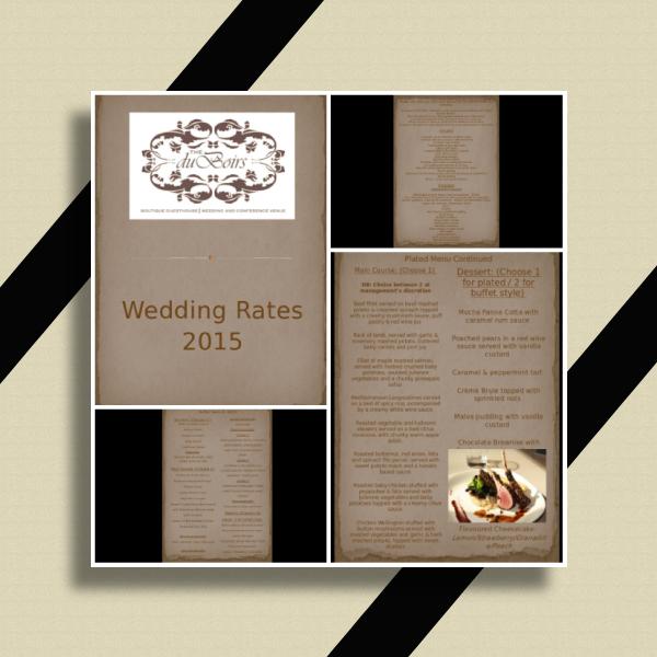 the duboirs wedding package presentation