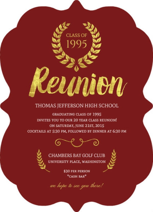 21 Reunion Invitation Examples Templates Design Ideas Examples