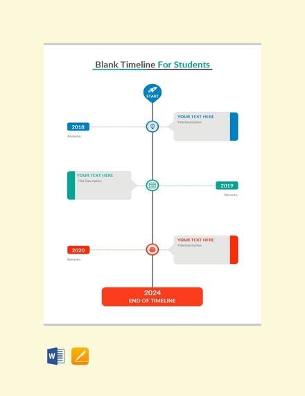 timeline chart template for student