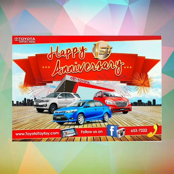 toyota anniversary celebration invitation card