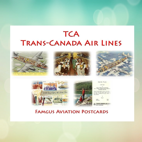 Trans-canada Airlines Business Postcard