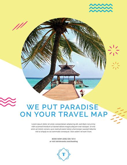 travel advertising poster sample