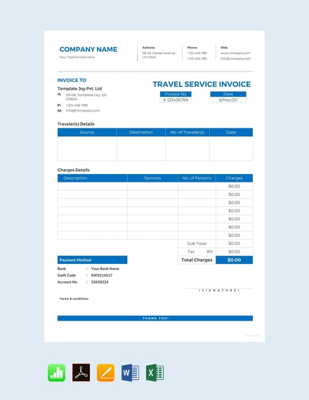 14 Service Invoice Examples Templates In Word Pdf Excel Pages