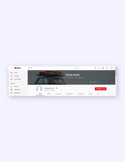 traveling youtube channel template